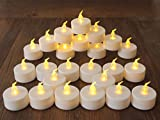 Electric Candles Birthday Candles,Flameless Candles for Holiday Decorations,LED Tealight Beautiful and Elegant for Interior Decorating ,24 Pack,Warm Yellow Candlelight Decor for Christmas.