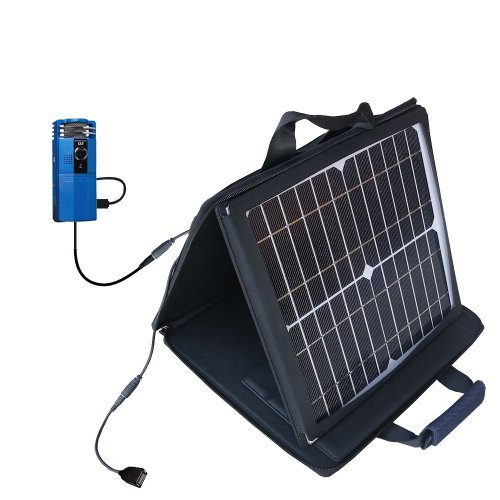 Gomadic Sunvolt Powerful And Portable Solar Charger Suitable For The Zoom Handy Video Recorder Q3 - Incredible Charge Speeds For Up To Two Devices