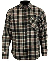 Mens Boys Flannel Lumberjack Casual Check Shirt Brush Cotton Work Long Sleeve