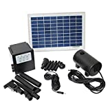 8-Watt Solar Powered 18-Volt Water Pump with Timer Control