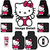 51P5FF gDIL. SL160  Hello Kitty Sanrio Waving Auto Car Truck SUV Accessories Interior Combo Kit Gift Set   8PC