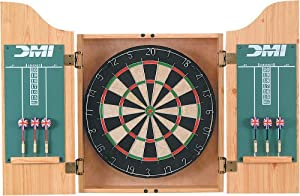 DMI Bristle Dartboard in Oak Finish Cabinet by DMI Sports