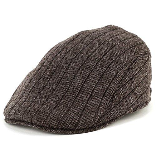 ニットハンチング メンズ/borsalino ボルサリーノ/秋冬 ファッション/フリーサイズ ウールニット/茶 ブラウン フリーサイズ(約55~58cm)