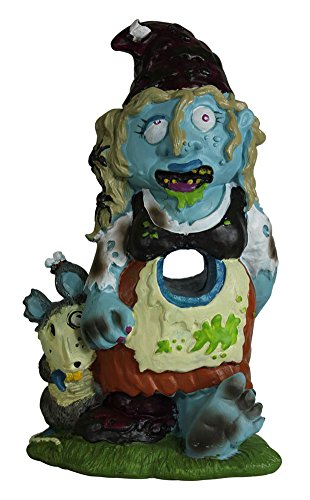 Zombie Gnome Girl Garden Statue Sculpture
