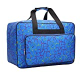 GEMGO Sewing Machine Carrying Case Tote Bag, HomeYoo Nylon Carry Bag, Padded Storage Cover Carrying Case with Pockets and Handles, Suitable for Most Standard Singer, Brother, Janome (Blue) (Color: Blue)