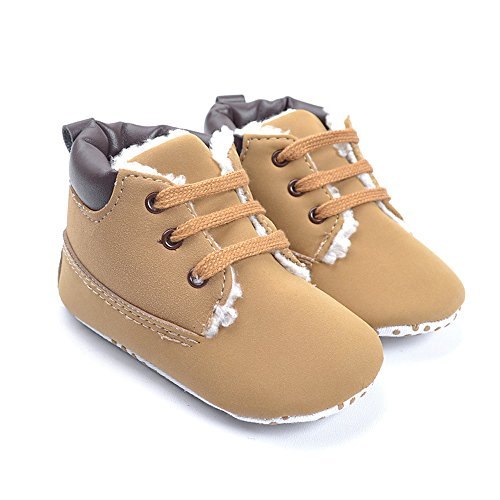 Kuner Baby Boy's Brown Warm Snow Short Boots First Walkers Shoes (12.5cm (12-18Months)) (Baby Shoes For Boys compare prices)