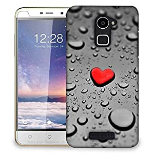Snoogg Red Drop Heart Designer Protective Back Case Cover For Coolpad Note 3 Lite