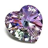 1 pc Swarovski Xilion Crystal 6228 Heart Charm Pendant Vitrail Light 18mm / Findings / Crystallized Element