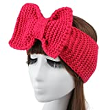 Urberry Beautiful Knitted Headband, Convenient Head Wrap Fo Women, Bow Knotted Hair Band