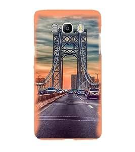 Printvisa Suspension Bridge Traffic Pic Back Case Cover for Samsung Galaxy J7 (2016)::Samsung J710F