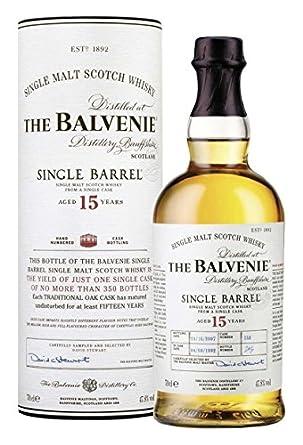 The Balvenie Single Barrel 15 Year Old  Malt Whisky - 70cl