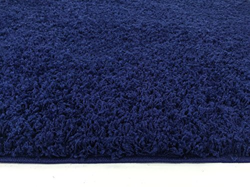 Solid Color Navy Blue Shag Area Rug Rugs Shaggy Collection