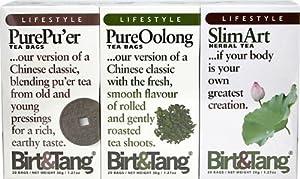 Birt & Tang; Slimming Tea Pack with Pure Pu'er, Oolong & Slim Art Tea-3-Pack