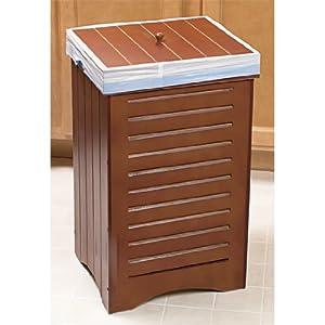 Amazon Com Maple Wooden Kitchen Trash Bin Garbage Can