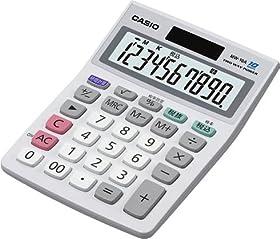 CASIO ミニジャストタイプ電卓 10桁 MW-10A-WE-N (エコ仕様 00キー/桁落しキー追加 表示保護パネル追加)
