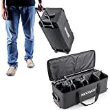 "Neewer 30""x 12""x 11""/ 77 x 31 x 28 cm Photography Photo Studio Lighting Equipment Carry Bag Carrying Trolley Case Padded with Wheels and Retractable Handle for Light-stands, Tripods, Strobe Light, etc."