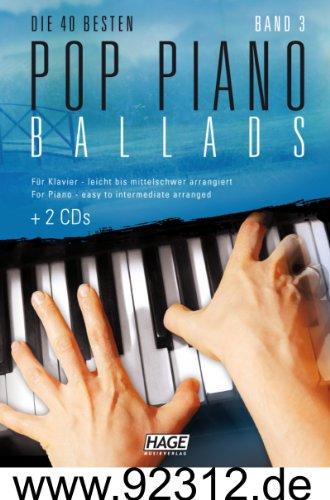 Pop Piano Ballads 3+ 2CD 's con rosa, Rihanna, Robbie Williams, argento luna, lana Del Rey, nickelback, Adele, One Republic, Leona Lewis, Bruno Mars, Birdy, Beyoncé Unheilig, etc.