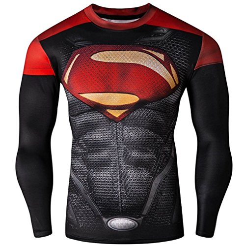 Madhero - Maglietta sportiva -  uomo Black Superman Small