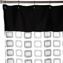 Regal Home Collections Times Square Sheer Shower Curtain With Suede Black/ Silver