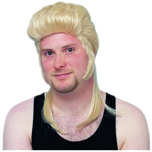 Mullet Wig (blonde) Adult Halloween Costume Accessory