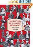 Dictionary of Canadian Biography / Di...