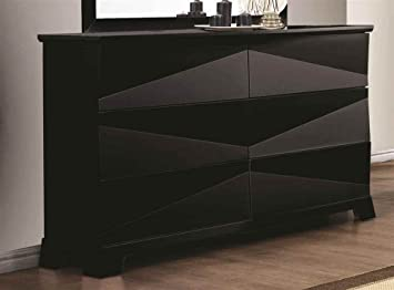 Contemporary Dresser with Asymmetrical Facets