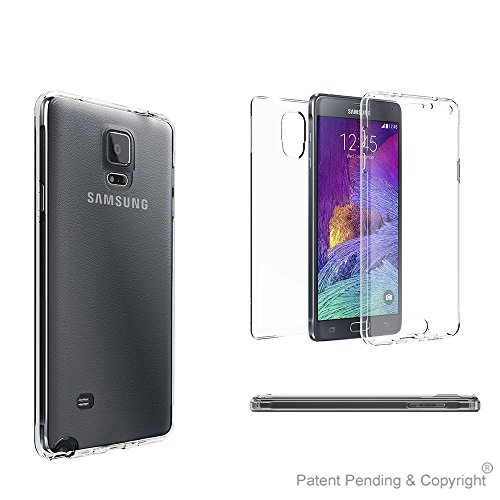 Beyond Cell®Tri Max®Galaxy Note 4 Cases, Ultra Slim 360ºProtection Screen Protector Clear Case[Shock Absorbing][Full Body]Crystal Clear Flexible Gel Cover (2 piece Front and Back Edge Protection Design)-Retail Packaging (Front And Back Case For Note 4 compare prices)