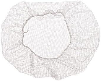 """Impact 7386W18 Nylon Honeycomb Hair Nets, 18"""" Diameter, White (10 Bags of 100)"""