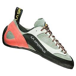 La Sportiva Finale Climbing Shoe - Women\'s Grey / Coral 40