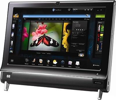 "HP Black 20"" TouchSmart 300-1223 All-In-One Desktop PC with AMD Athlon II X2 240e Processor & Windows 7 Home Premium"