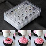 24Pcs/Set Box Set Icing Piping Nozzles Pastry Tips Cupcake Cake Decorating Diy Tool Kitchen Accessories