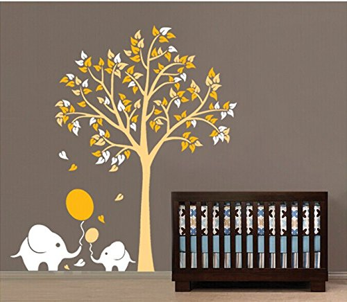 Home Wall Decor Decals Poster House Wall Stickers Quotes Removable Vinyl Large Wall Sticker For Kids Rooms Stickers Elephant Tree W-406 front-790855