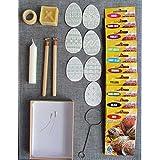 Pysanka,Easter Egg Decorating Kit:H+F Wax Pens(Kistka)10 Dyes+Wax+Stand+Dipper+