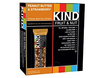 KIND Fruit & Nut, Peanut Butter & Strawberry, Gluten Free Bars, 1.4 oz. Bars (Pack of 12)