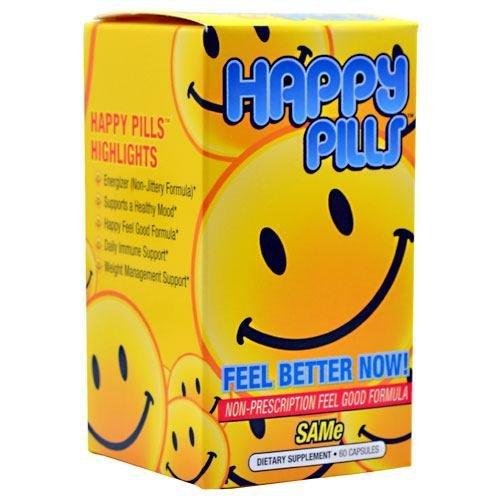 Brain Pharma Happy Pills - SAMe - 60 Capsules by Brain Pharma
