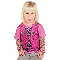 Pink Biker Girl Photorealistic Toddler T-Shirt