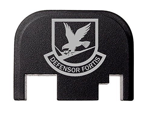 Rear Cover Slide Back Plate For Glock 17 17L 19 21 22 23 24 26 27 29 30 31 32 33 34 35 36 37 38 39 40 41 Gen 1-4 US Air Force Security Forces Insignia By NDZ Performance