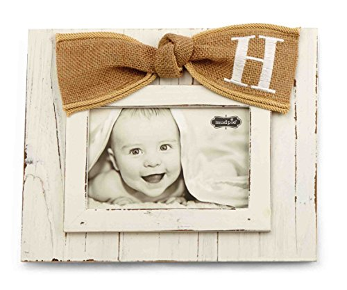 Mud Pie Planked Monogram Bow Frame, H