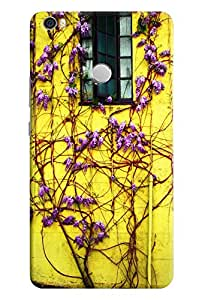 Omnam Flower Lying On Yellow Wall Printed Designer Back Cover Case For Xiaomi Mi Max