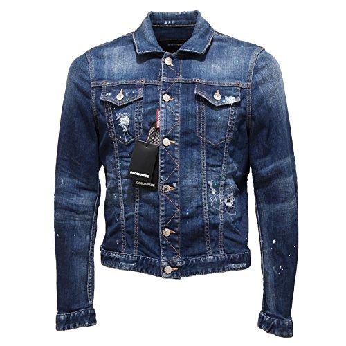 1936Q giacca jeans DSQUARED D2 blu jeans giubbotto uomo jacket men [50]