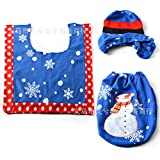 Generic K, Other : New Merry Christmas Decorations Snowman Toilet Seat Cover And Rug Bathroom Set Contour Rug...