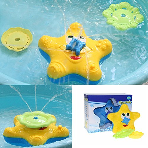 LITTLEPIG Baby Kids Bathroom Funny Water Starfish Electronic Bath Toys Spray Rotating Water Fountain Swimming Pool Game for Kids (Swimming Pool Electronics compare prices)