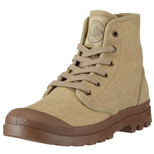 PALLADIUM Men's Pampa Hi-m Stonewashed Dark Khaki Walking Boot 02352-261-M 6.5 UK