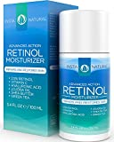 InstaNatural Retinol Moisturizer Cream - With 2.5% Retinol, Vitamin C 10%, Vegan Hyaluronic Acid, Shea Butter & Jojoba Oil - This Anti-Aging Moisturizer is the Perfect Night or Day Cream to Reduce Wrinkles and Other Signs of Aging - Hydrates Skin and Restores Even Skin Tone & Texture for a Youthful Radiance - Large 3.4OZ Size