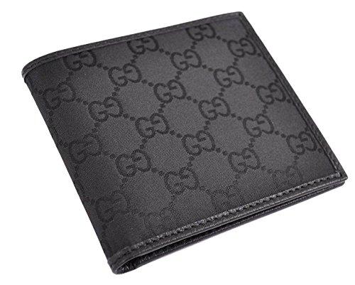 Gucci GG Monogram da uomo in tela e pelle 143383, colore: nero