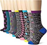 Betsey Johnson Womens Betseys Closet Crew Sock Gift Box 9 Pack