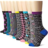 Betsey Johnson Women's Betsey's Closet Crew Sock Gift Box 9 Pack