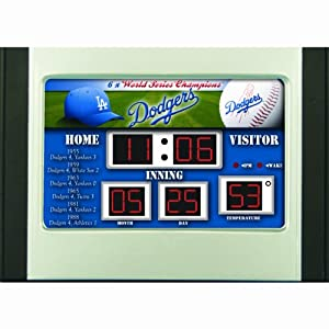 Los Angeles Dodgers Scoreboard Desk & Alarm Clock by Caseys