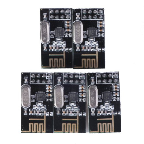 Slou New 5 X Nrf24l01+ 2.4ghz Antenna Wireless Transceiver Module