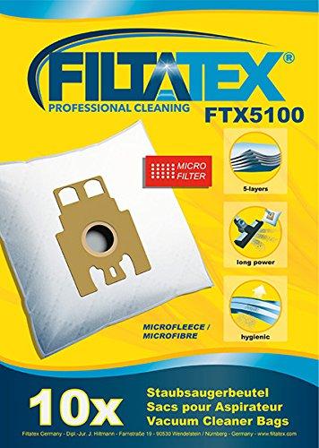 10 x FILTATEX sacs aspirateur Hoover telios plus 2400 / hoover telios plus 2400w - hoover telios plus 2400 watt